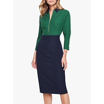 Damsel in a Dress Shonna Colour Block Dress, Navy/Green