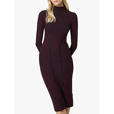 French Connection Simona Stripe Bodycon Midi Dress