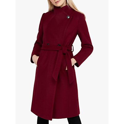 Monsoon Rita Wrap Collar Long Coat
