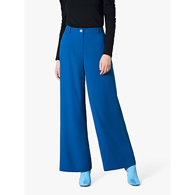 Finery Ashbridge Wide Leg Trousers, Blue