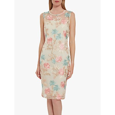 Gina Bacconi Maristella Embroidered Sequin Dress, Multi
