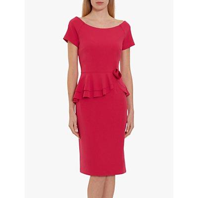 Gina Bacconi Darla Crepe Peplum Dress