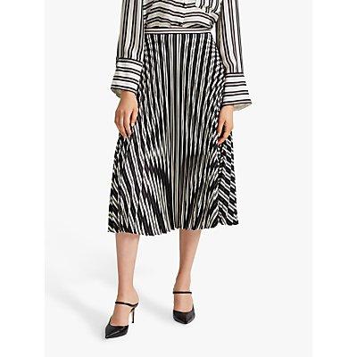 Club Monaco Annina Stripe Skirt, Black
