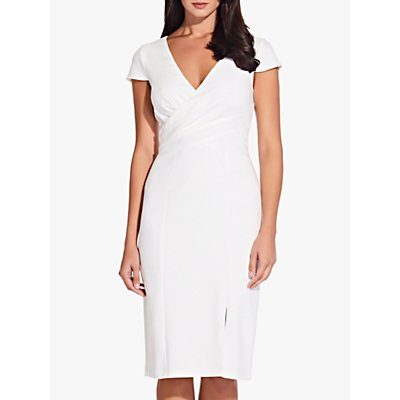 Adrianna Papell V-Neck Sheath Dress, Ivory