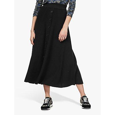 Brora Merino Wool Button Detail Maxi Skirt