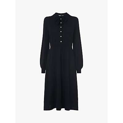 L.K.Bennett Launay Merino Wool Dress, Midnight