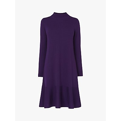 L.K.Bennett Flossy Merino Wool Dress, Plum