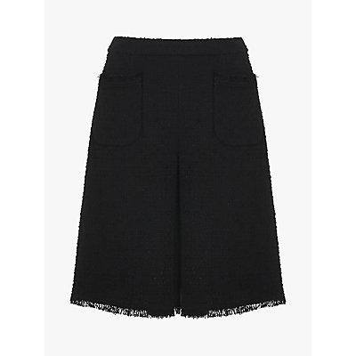 L.K.Bennett Eleanor Tweed Skirt, Black