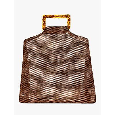 Becksondergaard Glimmer Embellished Clutch Bag, Black/Silver