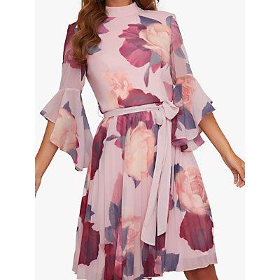 Chi Chi London Jessamy Floral Dress, Pink/Multi