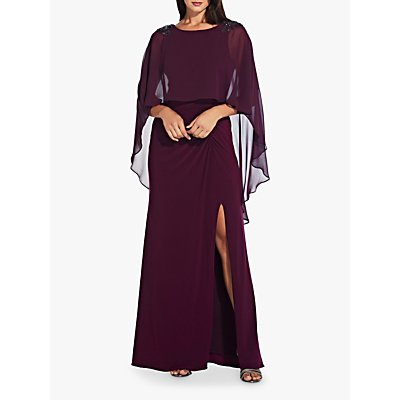 Adrianna Papell Plus Chiffon Gown, Shiraz