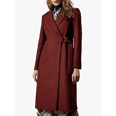 Ted Baker Dezpina Wool Blend Belted Wrap Coat