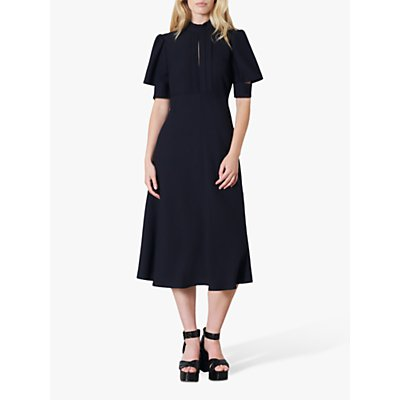 Finery Beaumont Ruffle Neck Midi Dress