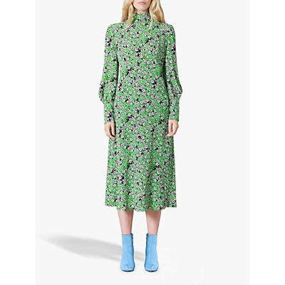 Finery Isla Floral Dress, Green