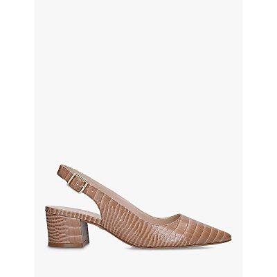 Carvela Aspire Croc Slingback Court Shoes