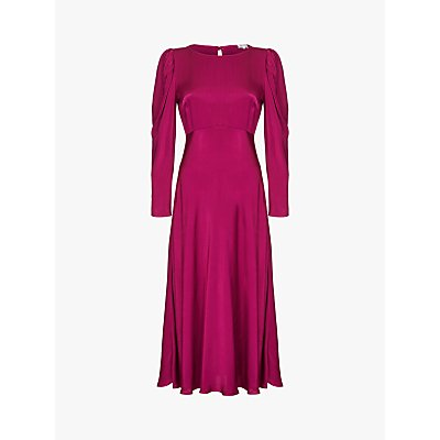 Ghost Rosaleen Satin Dress, Boysenberry
