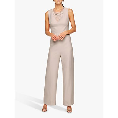 Damsel in a Dress Jimena Beaded Jumpsuit, Blush