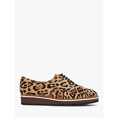 L.K.Bennett Sandy Leopard Calf Hair Platform Brogues, Natural
