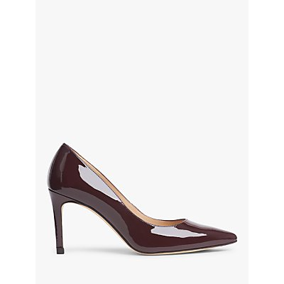 L.K.Bennett Floret Pointed Leather Court Shoes
