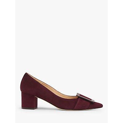 L.K.Bennett Desa Block Heel Suede Court Shoes