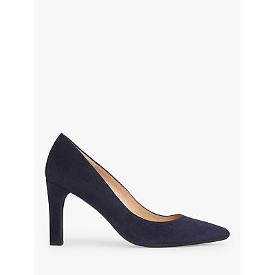 L.K.Bennett Tess Suede Block Heeled Court Shoes