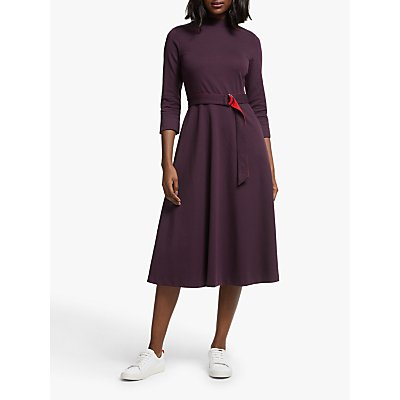 Boden Nerissa Ponte Midi Dress, Fig/Poinsetta