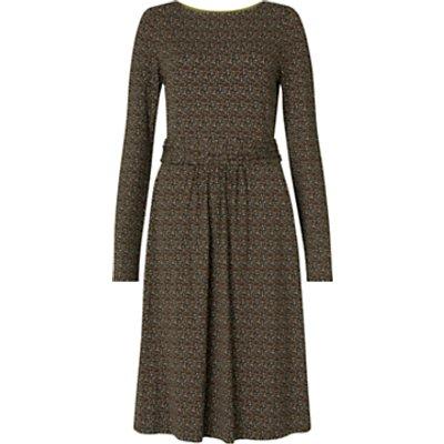 Boden Abigail Jersey Dress, Black/Confetti Spot