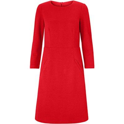 Boden Agnes Jacquard Dress, Poinsettia Red