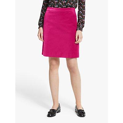 Boden Mimi Velvet Skirt, English Berry