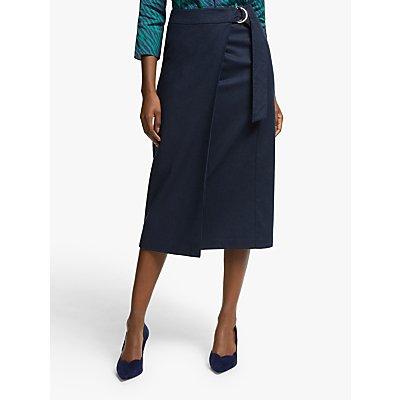 Boden Constance Wrap Skirt, Navy