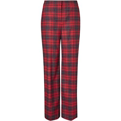 Boden Inverness Check Trousers, Poinsettia Check