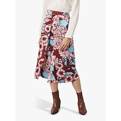 Finery Archie Floral Print Skirt