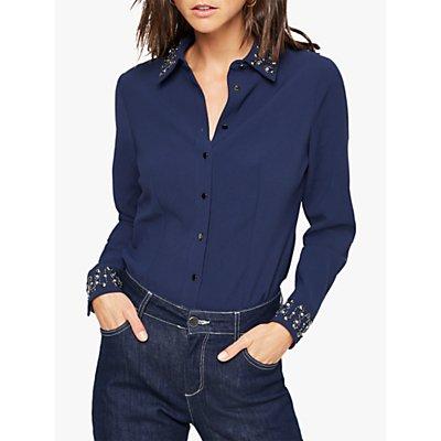 Damsel in a Dress Elsdon Embellished Shirt, Navy