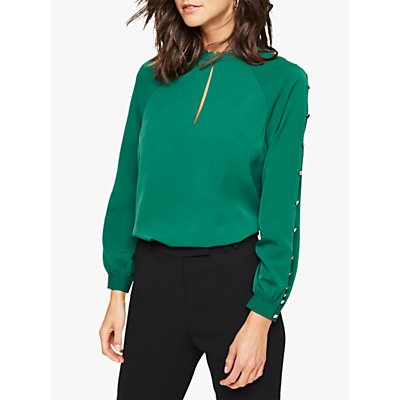 Damsel in a Dress Evonne Button Blouse, Green
