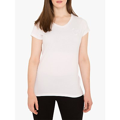 M Life Om Short Sleeve Yoga Top, White