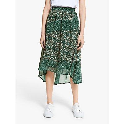 Y.A.S Farah Midi Skirt, Green