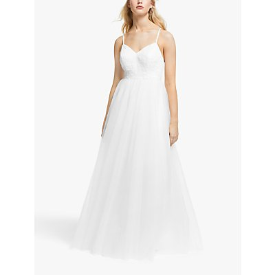 Y.A.S Zetia Maxi Strap Dress, Star White