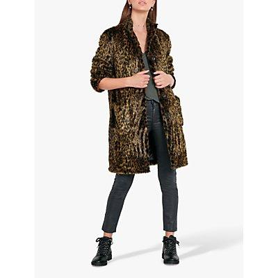 hush Louise Faux Fur Coat, Leopard
