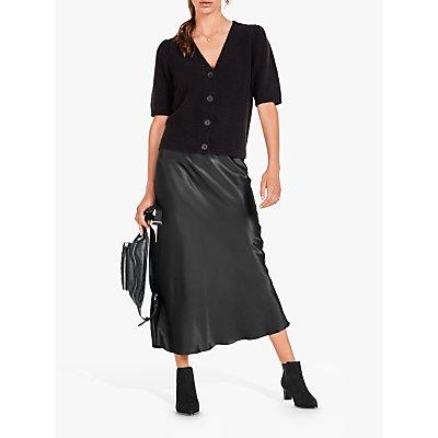hush Simone Slinky Midi Skirt, Charcoal