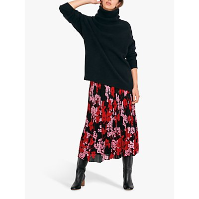 hush Floral Pleated Skirt, Blossom