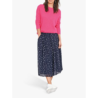 hush Martina Star Printed Midi Skirt, Midnight/White Star
