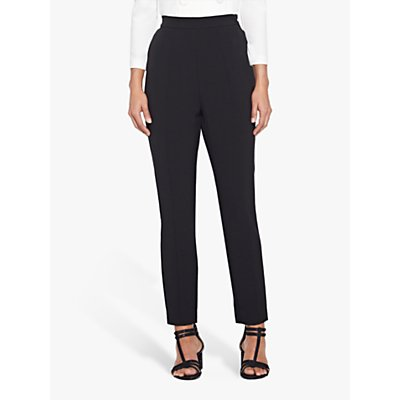 Adrianna Papell Crepe Slim Trousers, Black