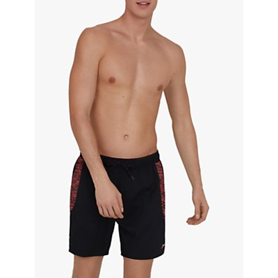 Speedo Sport Printed 16 Watershorts, Black/Phoenix Red