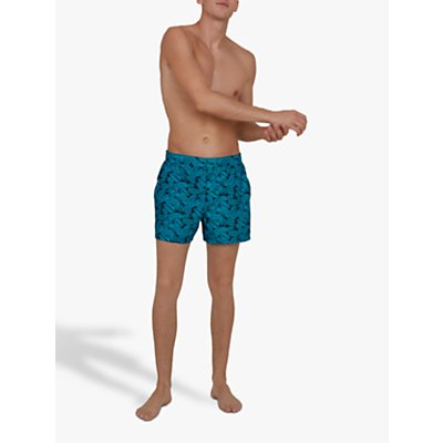 Speedo Vintage Leisure 14 Swim Shorts, Palm Navy/Blue Bay