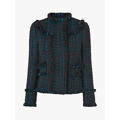 L.K.Bennett Josie Tweed Jacket, Blue