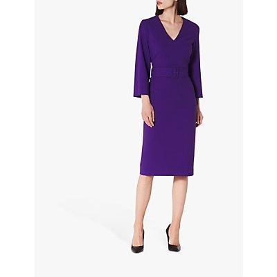 L.K.Bennett Esther V-Neck Belted Shift Dress, Ultra Violet