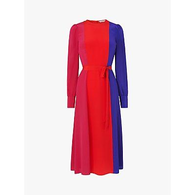 L.K.Bennett Hanbury Silk Colour Block Dress, Multi