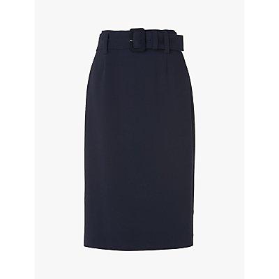L.K.Bennett Aimee Crepe Pencil Skirt, Midnight