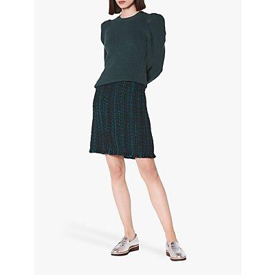 L.K.Bennett Josie Tweed Skirt, Blue