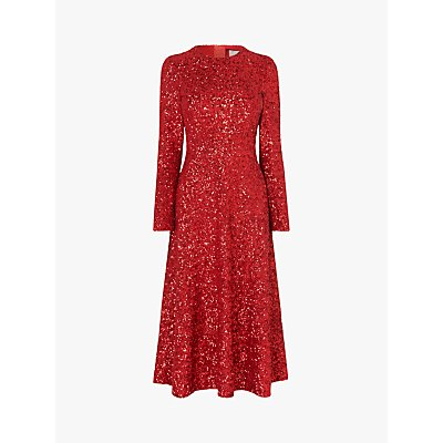 L.K.Bennett Lazia Sequin Midi Dress